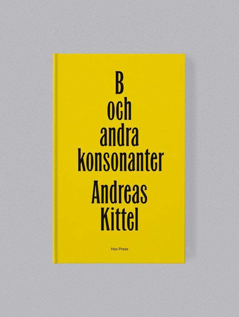 Bokomslag, Andreas Kittel, Hoc Press, bokförlag, förlag